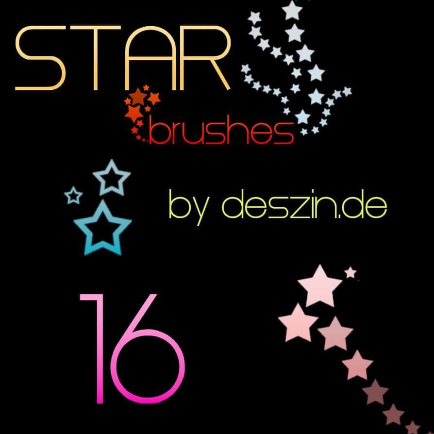 16种矢量星星图案PS笔刷素材