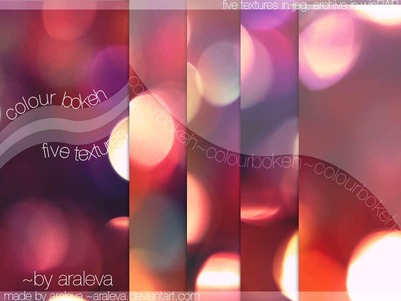 漂亮的七彩光影散景美图背景素材