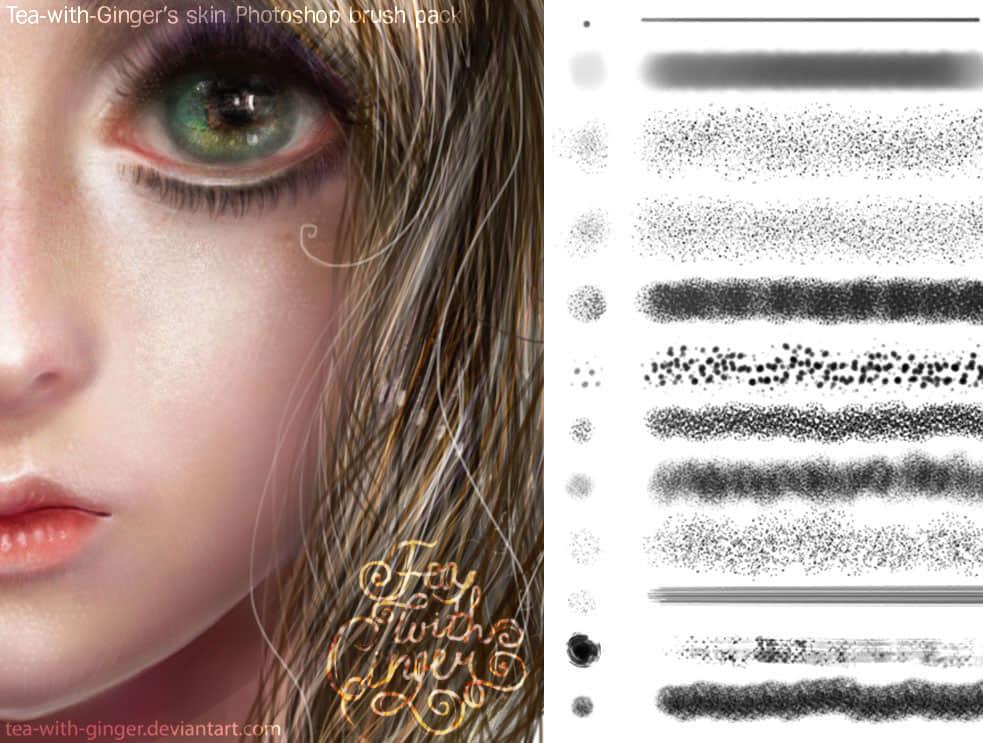 精细CG人物创作手绘Photoshop笔刷下载