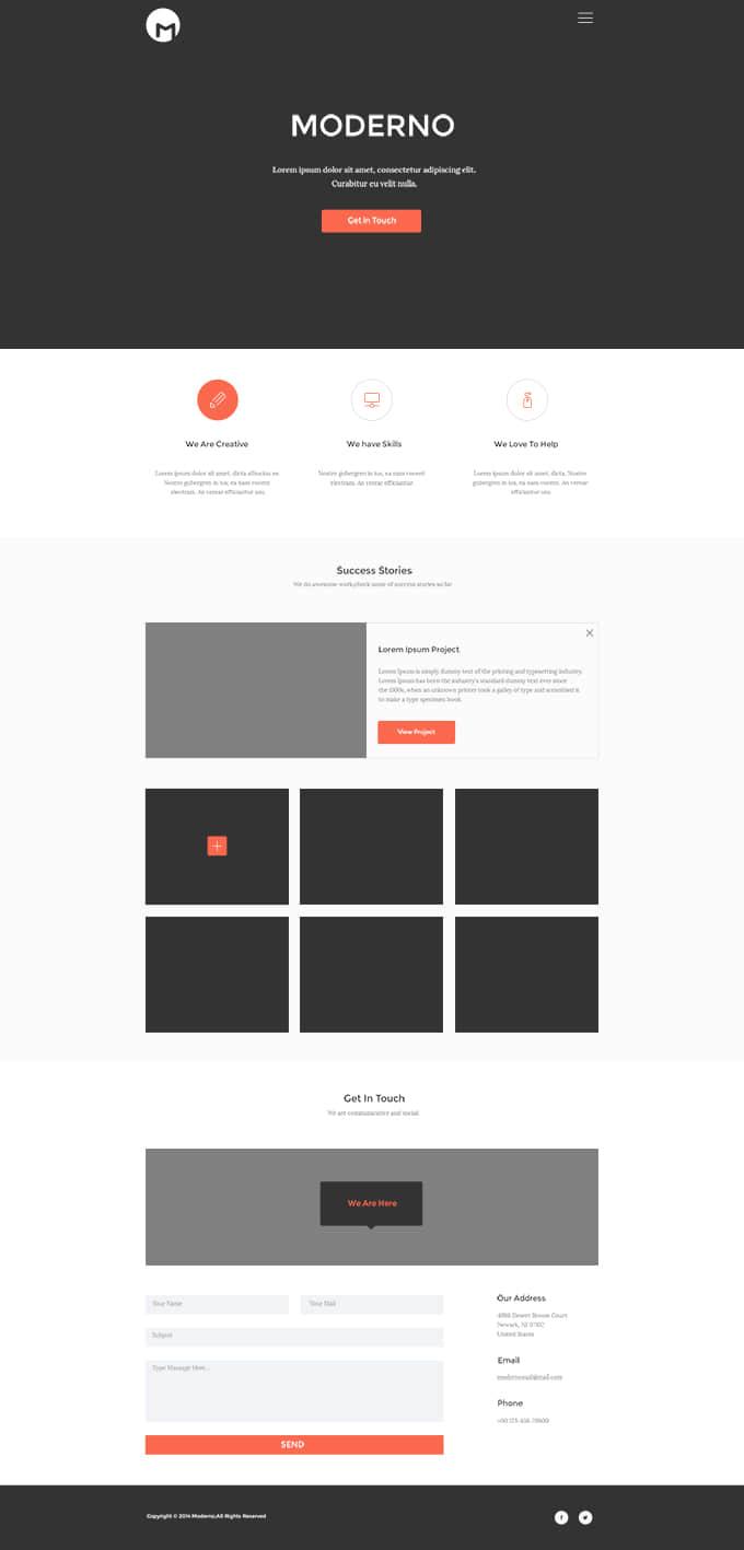 简单企业主体页面模板PSD源文件素材下载