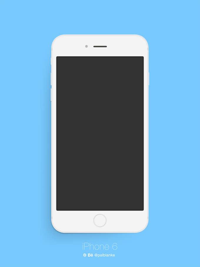 iPhone 6 Plus 模型PSD素材下载