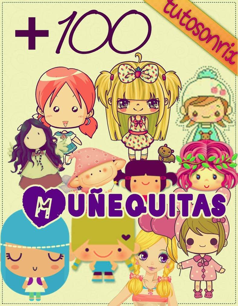 140+ 可爱卡通女孩美图秀秀素材笔刷包
