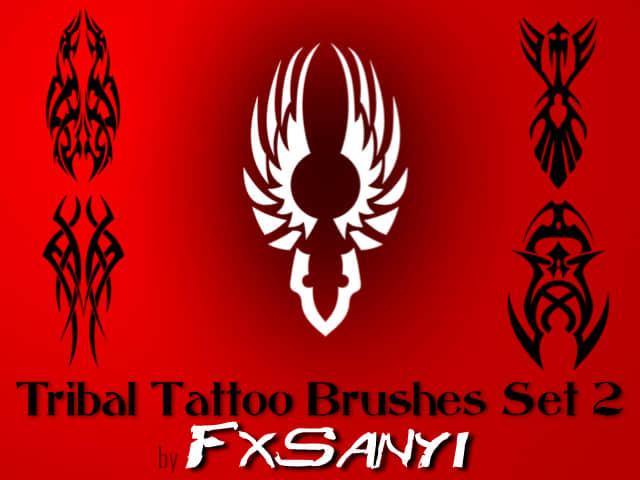 部落纹饰图案、非主流纹身Photoshop笔刷 #.2
