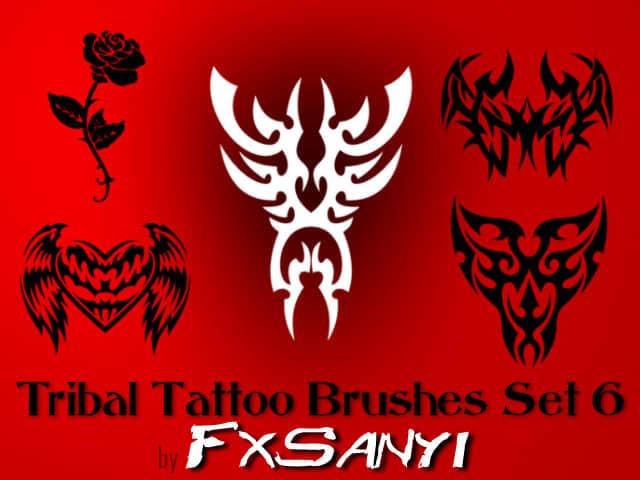 部落纹饰图案、非主流纹身Photoshop笔刷 #.6
