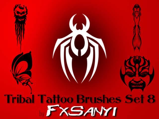 部落纹饰图案、非主流纹身Photoshop笔刷 #.8