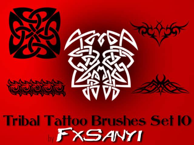 部落纹饰图案、非主流纹身Photoshop笔刷 #.10