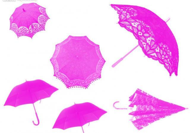 蕾丝边雨伞Photoshop笔刷素材