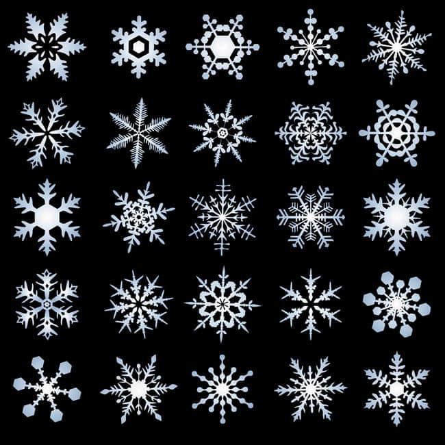 25种漂亮的雪花花纹图案Photoshop笔刷