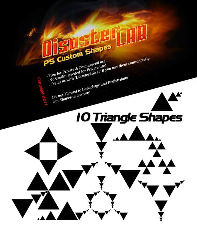 10种三角形阵列样式Photoshop笔刷素材