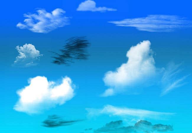 高空白云、乌云、积雨云Photoshop笔刷