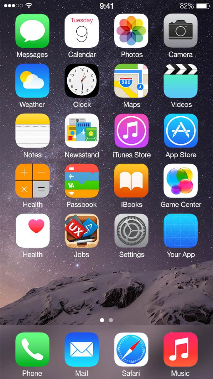 苹果手机iPhone 6 图标素材下载