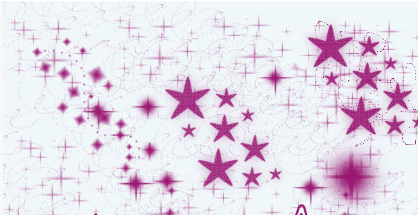 可爱星星装饰背景素材Photoshop笔刷下载