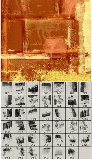 41款污渍痕迹、墙面陈旧纹理Photoshop笔刷