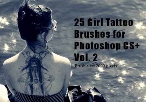 非主流纹身刺青Photoshop笔刷素材下载
