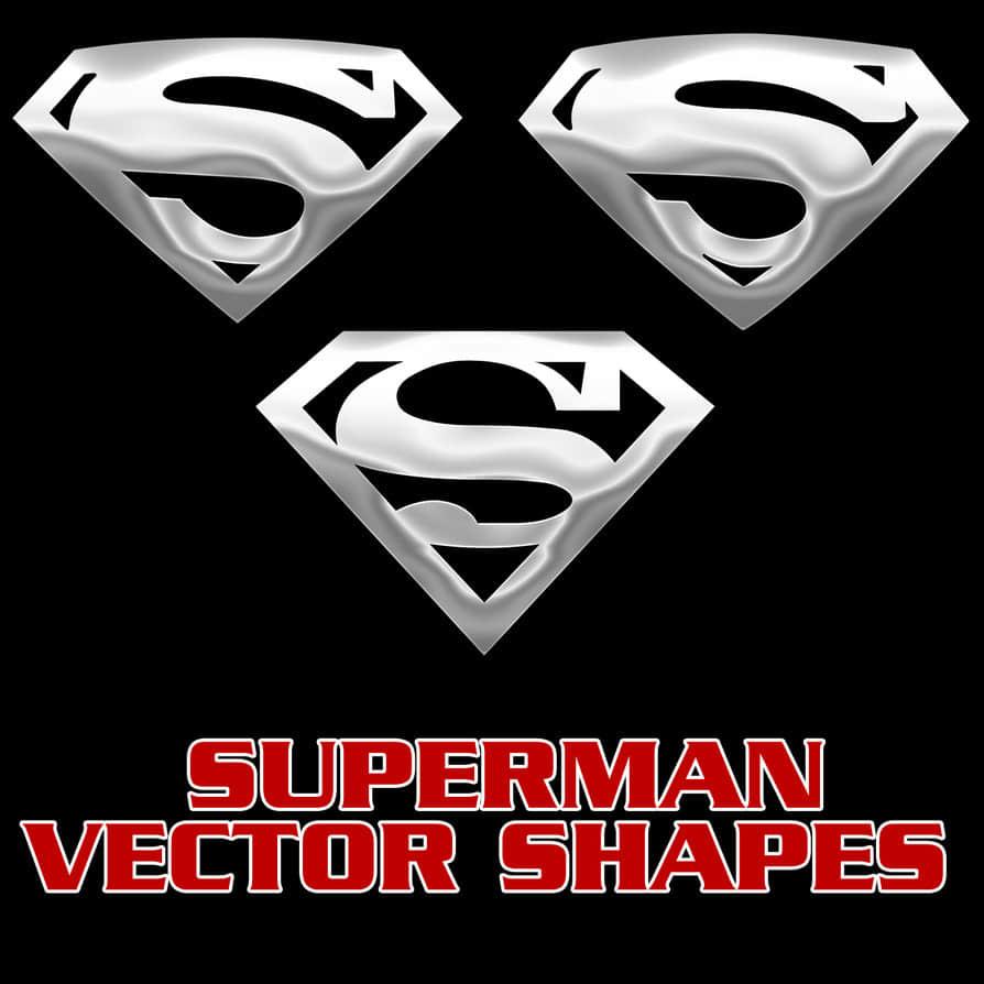 超人S标志PS自定义形状素材