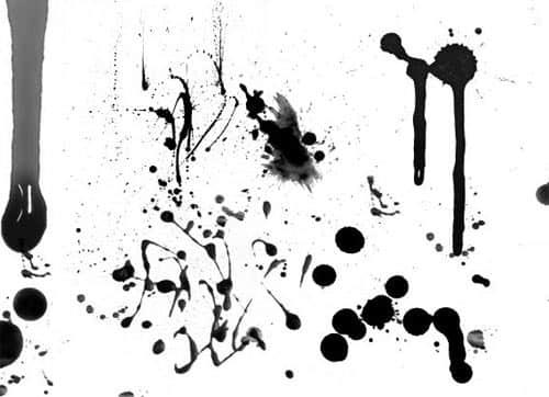 13种血迹、血液滴溅痕迹Photoshop笔刷