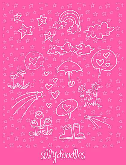 卡哇伊童趣手绘涂鸦Photoshop美图素材笔刷