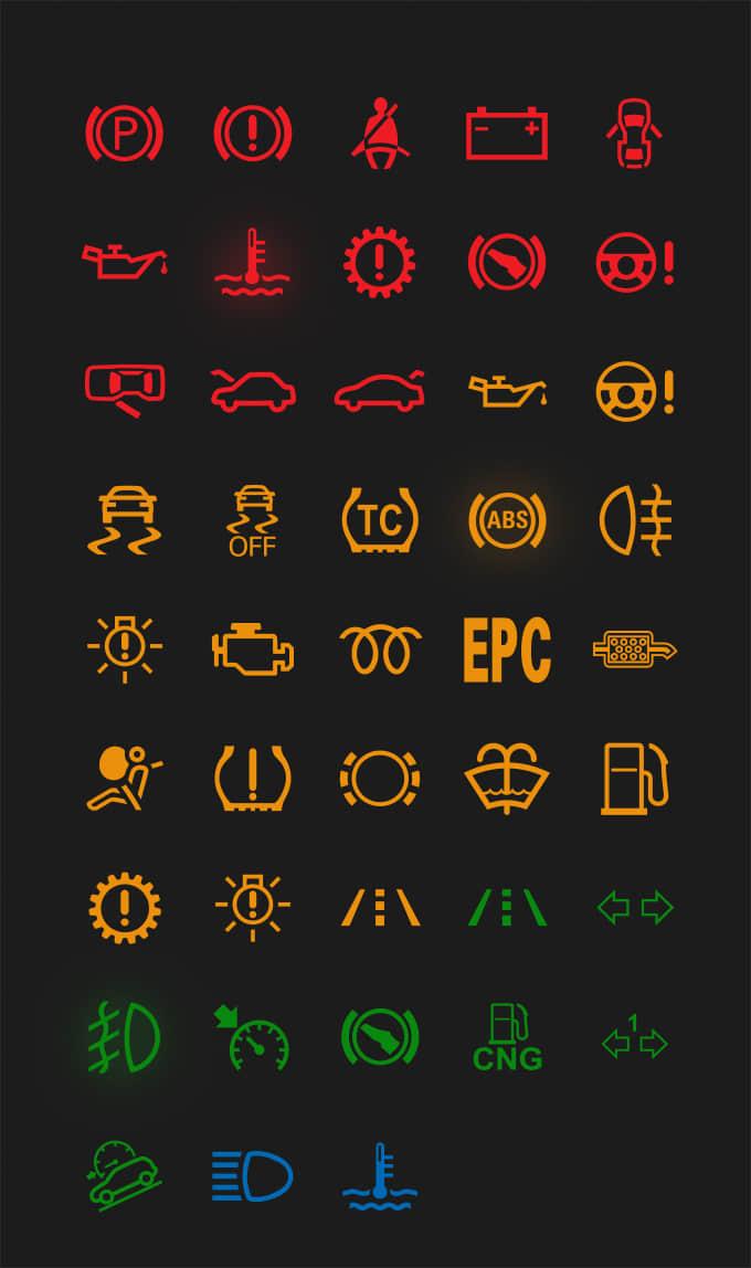 一组靓彩简洁汽车主题图标UI素材PSD源文件下载