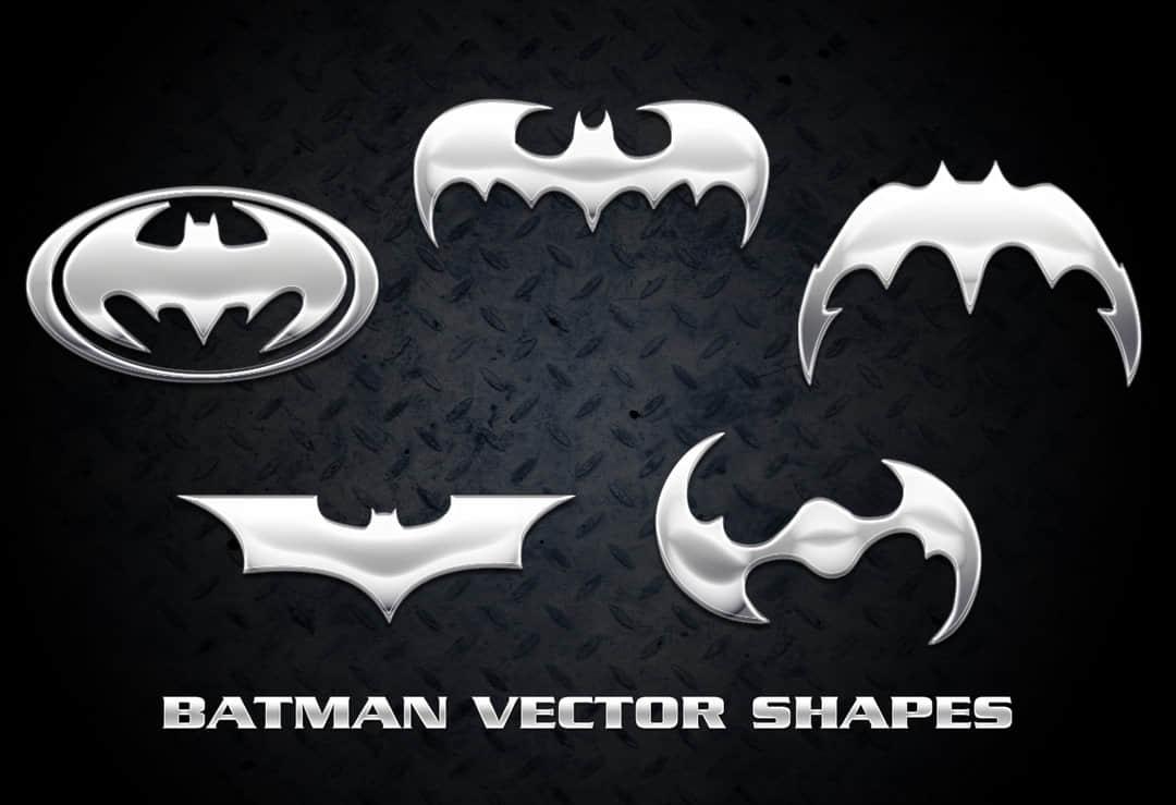蝙蝠侠标志、图案photoshop自定义形状素材 .csh 下载