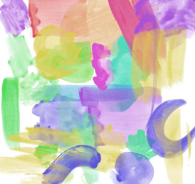 高级水墨痕迹、颜料画笔痕迹Photoshop笔刷素材