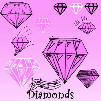 呆萌!卡通手绘钻石图案Photoshop美图笔刷