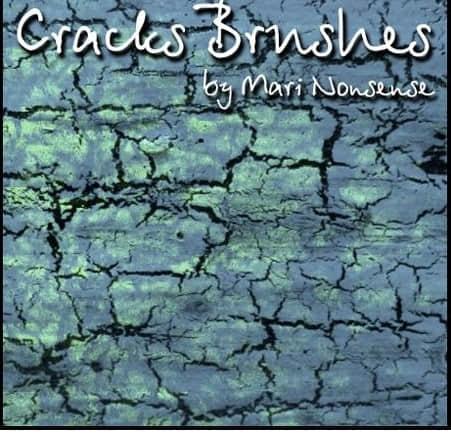 地面墙面干裂、皲裂、裂纹纹理Photoshop笔刷素材