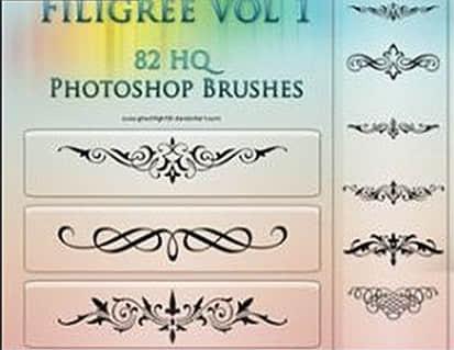 古典欧式花纹艺术装扮Photoshop笔刷