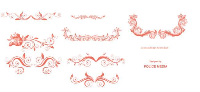 欧式贵族植物花纹边框Photoshop笔刷素材