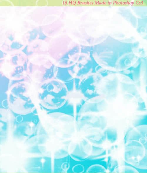 半透明可爱泡泡、气泡、水泡Photoshop笔刷素材