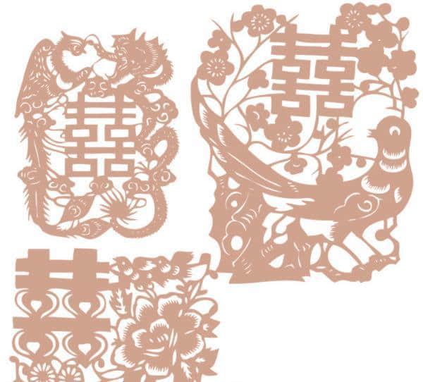 中国传统喜庆剪纸图案Photoshop笔刷下载 剪纸笔刷  adornment brushes