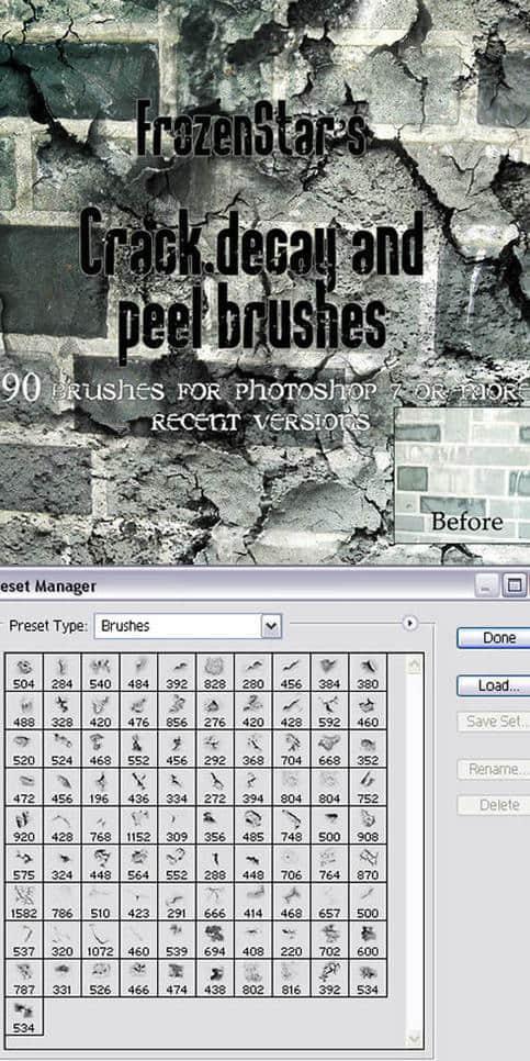 墙壁纹理、陈旧墙面、粗糙墙壁Photoshop笔刷