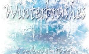 冰天雪地霜冻、结冰效果Photoshop笔刷素材 霜冻笔刷 结冰笔刷  water brushes