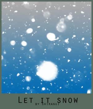 飘落的雪花、雪片Photoshop梦幻场景笔刷