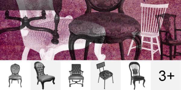 欧式椅子Photoshop家具笔刷