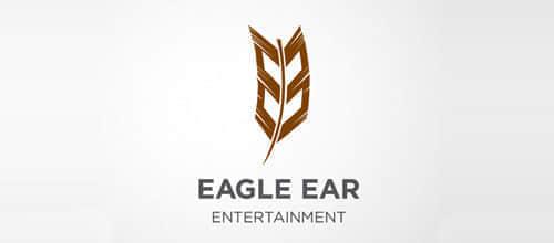 30个羽毛形状的时尚logo标志设计