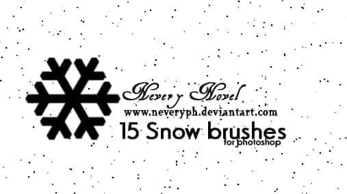 15个手绘雪花矢量图形Photoshop笔刷素材