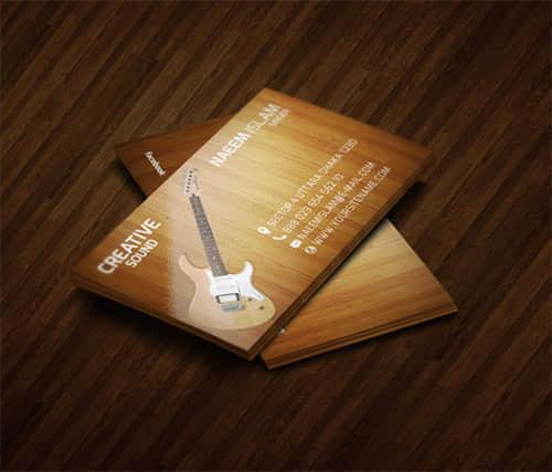 20张音乐主题元素名片设计方案欣赏