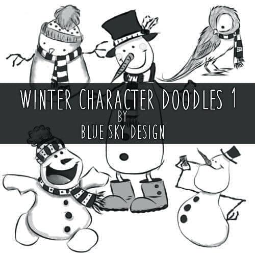 超级可爱冬天雪人Photoshop圣诞节装扮笔刷