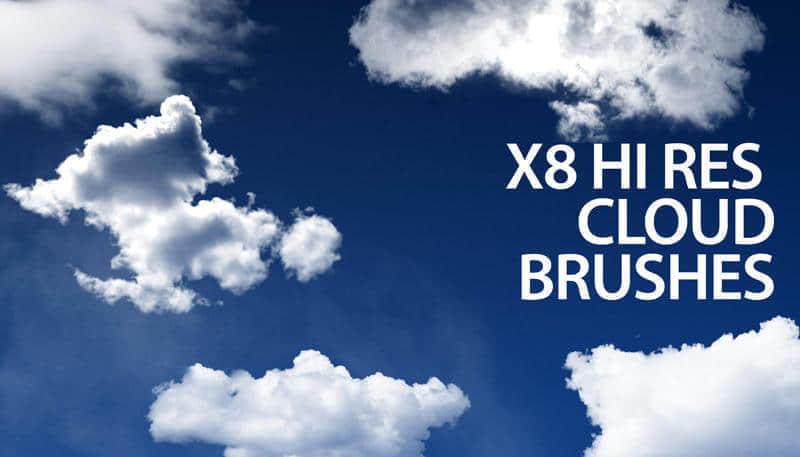 高清天空云朵素材Photoshop笔刷免费下载