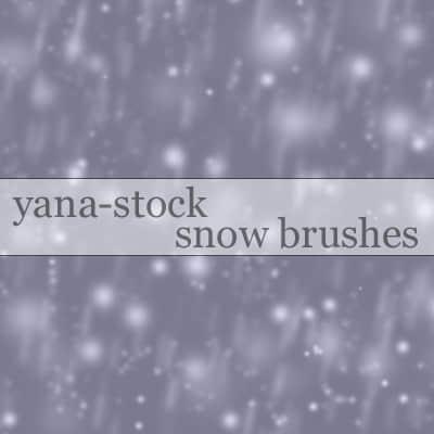 下雪效果Photoshop背景笔刷
