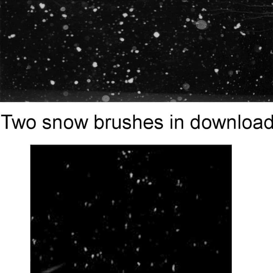 下雪效果Photoshop背景笔刷 #.2