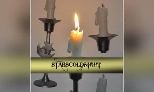 真实蜡烛、烛台、烛光Photoshop笔刷下载