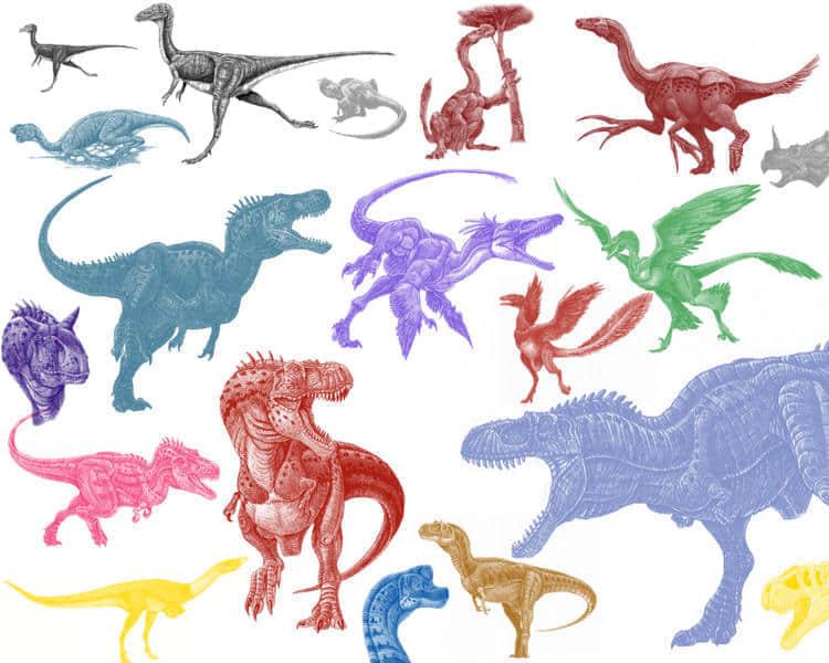 恐龙造型Photoshop笔刷素材 #.3