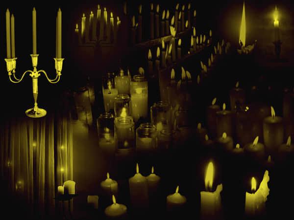 蜡烛、烛光、烛火Photoshop笔刷下载 #.4
