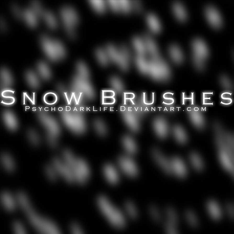 下雪天气效果Photoshop雪景笔刷