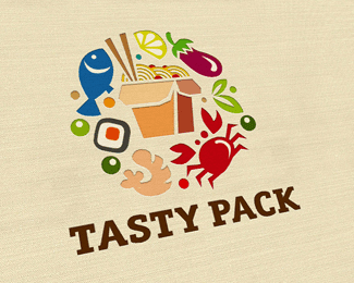 海鲜餐馆主题螃蟹logo造型标志设计欣赏