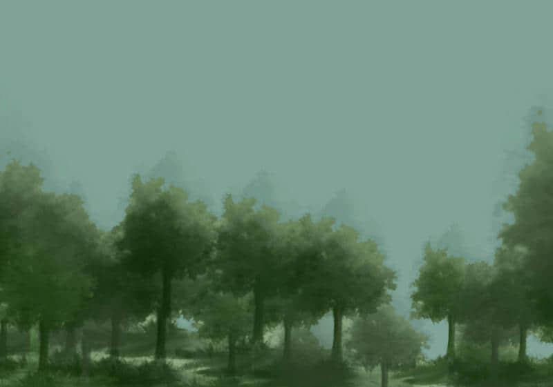 一颗CG风格的树木造型Photoshop笔刷素材