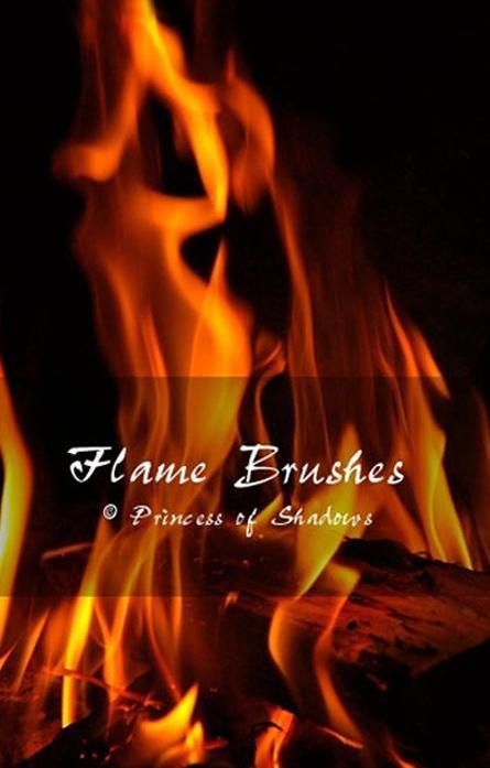 4个免费真实的火焰燃烧、火苗Photoshop笔刷素材