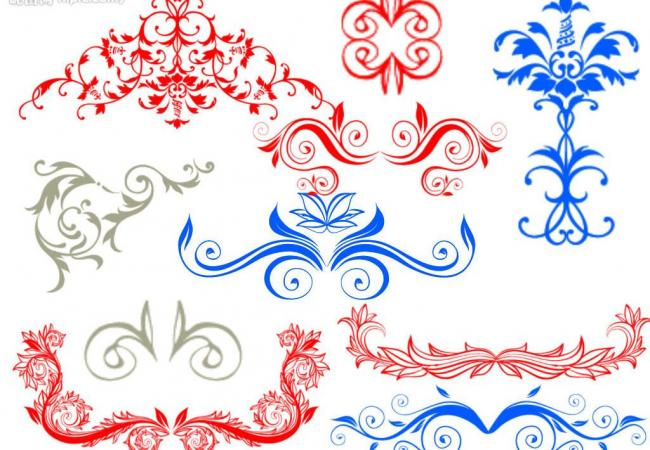 欧式精美植物花纹图案Photoshop笔刷素材