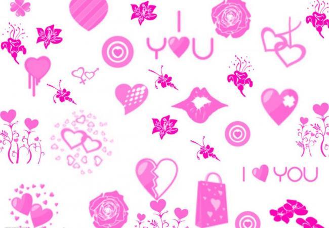 非主流星星、爱心、花朵图案Photoshop笔刷素材
